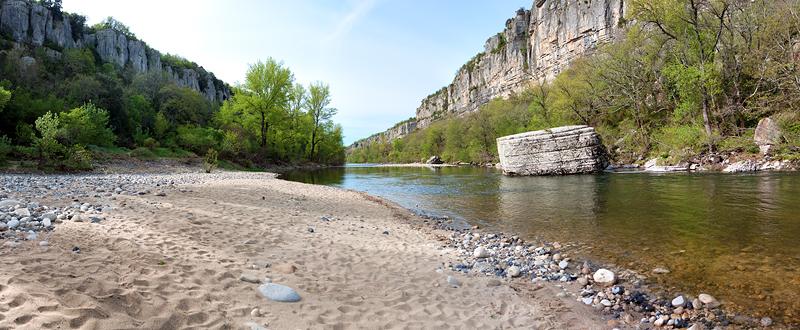 riviere de l ardeche - Image